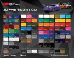 Vinyl Wrap Color Chart 76 Organized Unique Car Wrap Colors