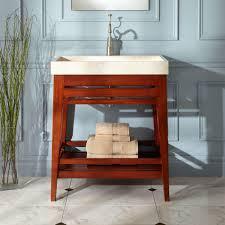 Open Shelf Vanity Bathroom Furniture Fascinating Open Shelf Bathroom Vanity Nu Decoration