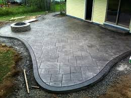 stamped concrete patio with fire pit cost. Stamped Concrete Patio Remarkable With Fire Pit Patios Driveways Walkways . Cost N