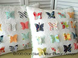 Oh Sew Retro - Chitter Chatter's All A Flutter | Pillows ... & Chitter Chatter's new pattern All A Flutter pillow - pattern for purchase Adamdwight.com