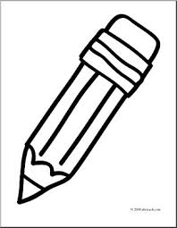 Small Picture Clip Art Basic Words Pencil coloring page I abcteachcom