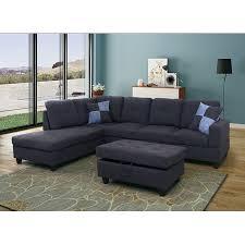 L shape furniture Sofa Furniture Aycp Furniture Shape Sectional Sofa Left Chaise Blackgrey Linen 3piece Shape Sofa Set Walmartcom Walmart Aycp Furniture Shape Sectional Sofa Left Chaise Blackgrey
