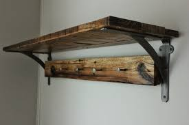 reclaimed wood wall shelf vintage railroad date nail coat rack 200