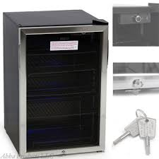 appliances glass door mini refrigerator wine cooler beer beverage bar fridge with key lock partial shower