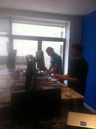 ikea beech numerar standing desk at venmo company