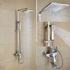 bathroom shower faucets. Image Is Loading 2018-NEW-Wall-Mount-Brass-Bath-Shower-Set- Bathroom Shower Faucets