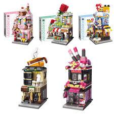 đồ chơi thông minh LEGO mô hình cửa hàng đường phố cho bé C101, Giá tháng  11/2020