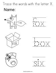 letter x coloring pages twisty noodle