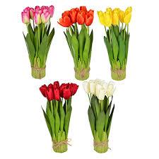<b>Цветок искусственный декоративный</b> в виде тюльпанов, 37х7см ...