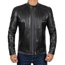 leather padded shoulders jacket mens biker style jacket