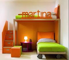 simple kids bedroom. simple orange kids bedroom k