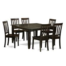 black dining room set. dining sets for 6 black room set