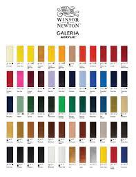 Watercolor Chart Winsor Newton Winsor Newton Galeria Acrylic Tubes 60ml