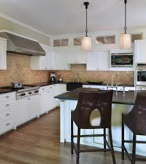 Red Brick Flooring Kitchen Kitchen Backsplash Faux Brick Backsplash Property Brotyous About