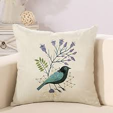 <b>1 Pcs</b> New Design <b>Bird</b> Printing Pillow Cover Classic Square Pillow ...