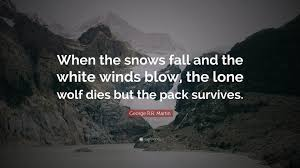 """What If I Fall Quote Gorgeous George RR Martin Quote """"When The Snows Fall And The White Winds"""