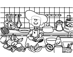 Small Picture Cooking Demonstration in Kitchen Coloring Pages Download Print