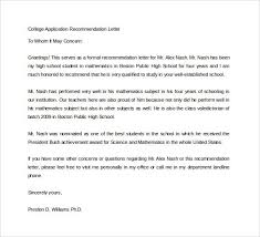 Letter Recommendation College Application Mwb Online Co
