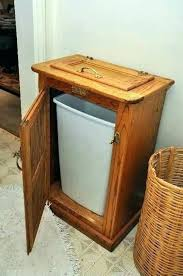 wood outdoor trash can enclosure kitchen garbage cabinets cabinet drawer wooden bin exciting holder brown woods
