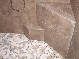 shower floor tile pebble floors for tiled showers how to install ideas