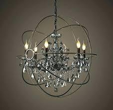 crystal halo chandelier full image for restoration hardware orb 59