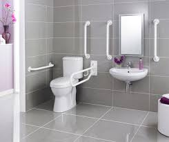premier doc m pack disabled bathroom toilet basin and grab rails white