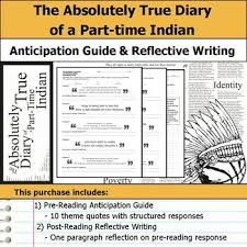 The Absolutely True Diary Of A PartTime Indian Quotes Enchanting The Absolutely True Diary Of A Parttime Indian Anticipation Guide
