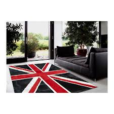 patchwork cowhide rug k-1911 british flag ...