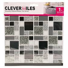 self adhesive wall tiles uk free sample mosaic tiles silver glitter mosaic clevertiles tile