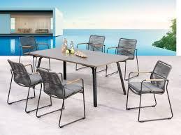 Moderne Garten Essgruppe Bormio Esstisch Beton 6 Stühle In