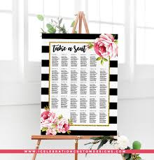 Wedding Seating Chart Staples Pretty Floral Seating Chart