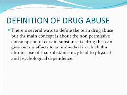 drug abuse and addiction definition