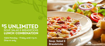 olive garden 5 unlimited soup salad breadsticks through 4 24