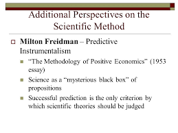 the scientific method and its practice in the social sciences a  20 additional perspectives on the scientific method  milton freidman predictive instrumentalism ""