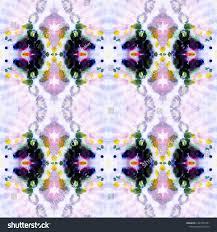 Tibetan Fabric Design Tibetan Fabric Repeat Tie Dye Ornament Stock Illustration