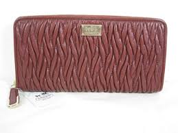 NWT COACH MADISON GATHERED TWIST ACCORDION ZIP WALLET LIGHT GOLD BRICK  F49609