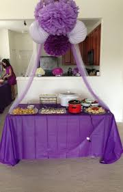 Dark Purple Bridal Shower Decorations