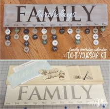 family birthday calendar do it yourself kit includes 6x24 wood wood family birthday calendar