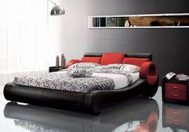 awesome modern black and red leatherette bed by vig furniture plus cool lamp and grey wall for bedroom decoration ideas vig furniture catalog national wholesale liquidators furniture wholesale contemp 680x478