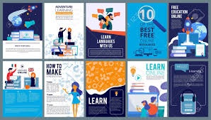 Education Online Covers Posters Or Ads Flyer Template With Educational