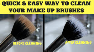 how to clean makeup brushes easiest quickest way