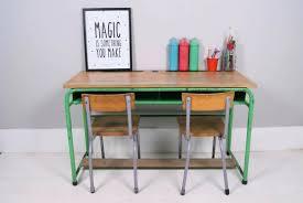 metal kids desk vintage wooden school desks blue ticking kids double desk  desk organizer tray