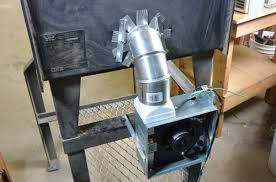 as for the wood stove blower the blower i built was far too big and powerful and being made of wood i d need to connect it with a length of ductwork to