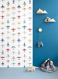 Nieuw Vliegtuigjes Behang