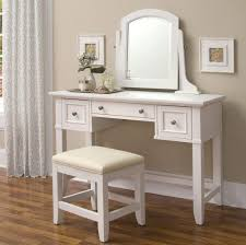 Makeup Tables For Bedrooms Furniture Solid Wood Makeup Vanity Desk With Mirror And Drawers