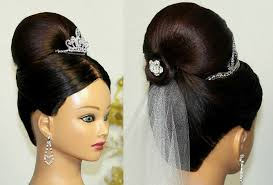 Different Bun Hairstyles Bridal Updo Bun Hairstyle For Medium Long Hair Youtube