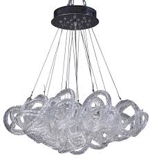 infinity chandelier clear contemporary chandeliers by viz