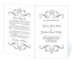 Free Printable Wedding Program Templates Fan Template Microsoft Word