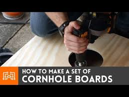 How To Make A Wooden Game Board How to make cornhole boards YouTube 58