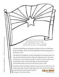 Small Picture Arizona State Flag Coloring Page